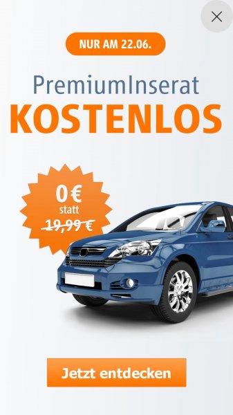 Kostenfreies Premiuminserat bei Autoscout 24 (statt 19.99€)