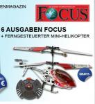 Mini Metal Hubschrauber für 13,80€ im Focus Mini Abo