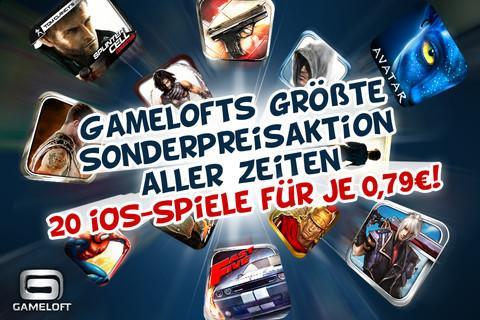 (App Store) 20 Gameloft Spiele reduziert auf 0.79€ iPhone/iPpod und iPad!!!