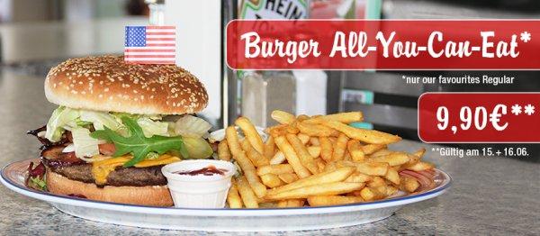 Burger - All You Can Eat, für nur 9,90 € bei Miss Pepper am 15.+16. Juni
