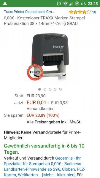 Kostenloser Stempel von Traxxas 38x14 mm 4 Zeilig
