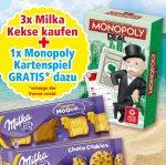 "[FAMILA NW] KW26 3x Milka Kekse versch. Sorten 144-260g für 5,07€ + Gratis Kartenspiel ""Monopoly Deal"" (Idealo: 5,50€)"