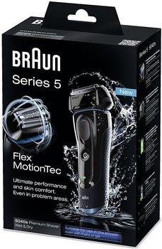 Braun Series 5 5040s Wet & Dry, Rasierer, schnurlos, Blau/Schwarz für 99€ @ Allyouneed