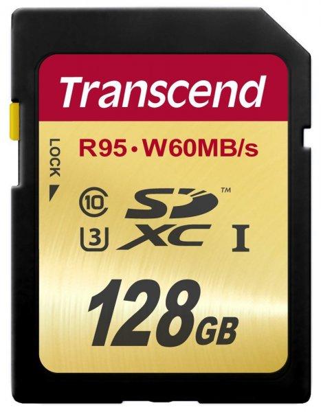 Transcend SDXC UHS-I U3 128GB Speicherkarte (95 MB/s Lesen, 60MB/s Schreiben) für 54,99€ @amazon.de