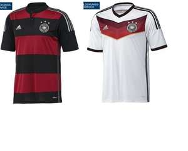 DFB WM Trikot 2014 für 25 € bei Karstadt (bei Filiallieferung oder Kundenkarte) M & XL + Kindergrößen mit Beflockung DFB-WM-Spielpaarung