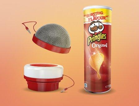 Pringles-Aktion > Karaoke-Kit (Mikrofon + Lautsprecher) beim Kauf von 2 Dosen Chips