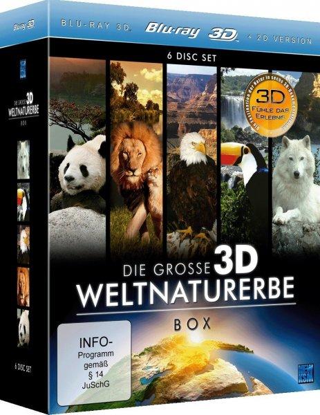 Die große 3D Weltnaturerbe Box (6x 3D Blu-ray) für 29,75€ @Thalia.de