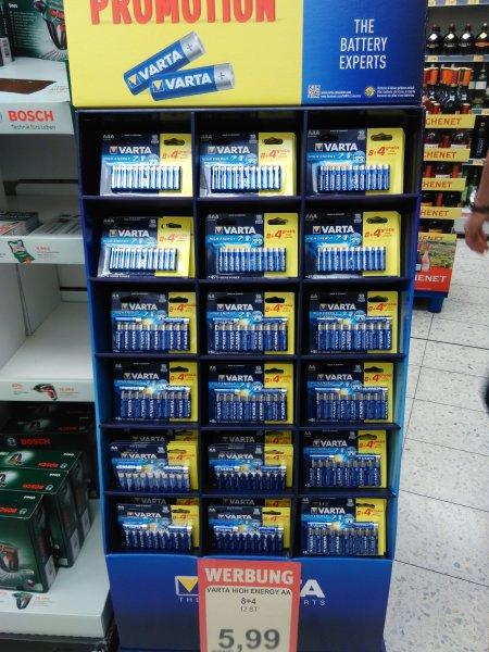 [lokal?] varta alkaline AA/AAA Batterien 12 St. 5,99€