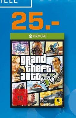 [Lokal Saturn Stuttgart, Esslingen und Leonberg ] Grand Theft Auto 5 / XBoxOne für 25,-€