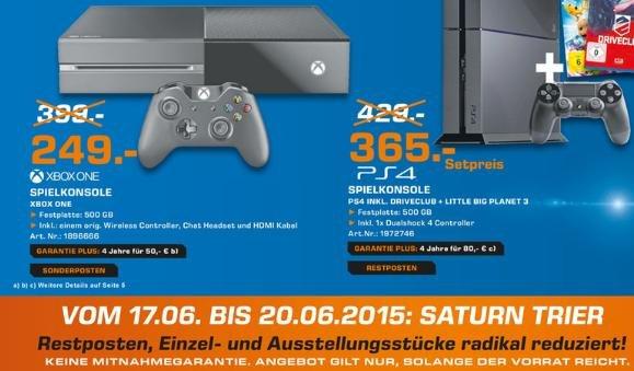 [Lokal Trier Saturn] Xbox One Konsole für 249€