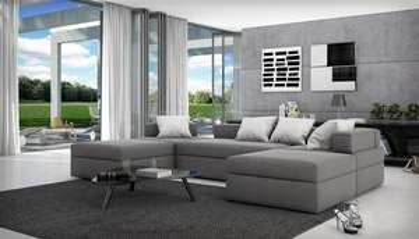 Kawola Sofa Ecksofa SALTA grau Recamiere Couch beidseitig montierbar, 899,- EUR @ amazon