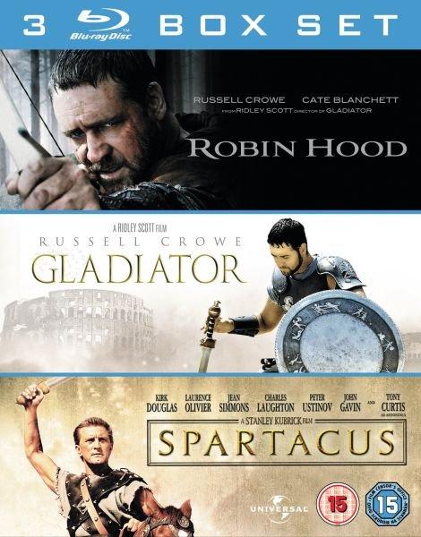 Robin Hood + Gladiator + Spartacus (Blu-ray) für 10,65€ @Zavvi.de