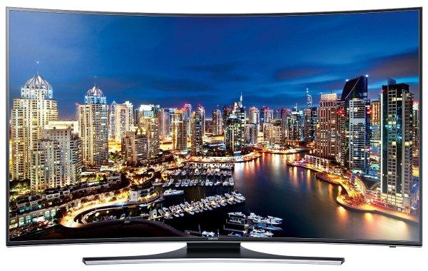 Samsung UE55HU7200 139 cm (55 Zoll) Curved LED-Backlight-Fernseher (Ultra HD, 800Hz CMR, DVB-T/C/S2, CI+, WLAN, Smart TV, HbbTV, Sprachsteuerung) schwarz/silber [Energieklasse A]