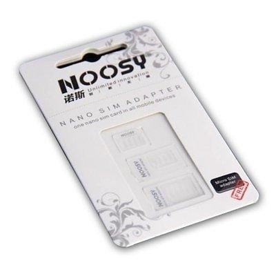 [@ebay]NOOSY Universal Nano Sim Adapter 3-er Set für 1,- Euro inkl. VSK