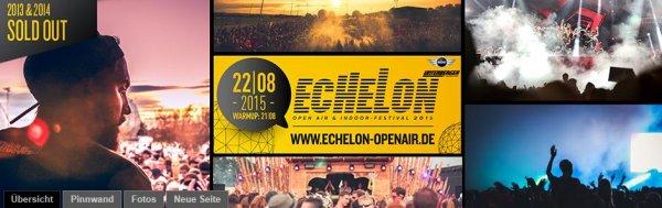 Zwei Tickets 2-for-1 fürs Echelon Festival Bad Aibling gesamt 51,04 statt 106,98€ - Festival-Deal - über 52% Rabatt