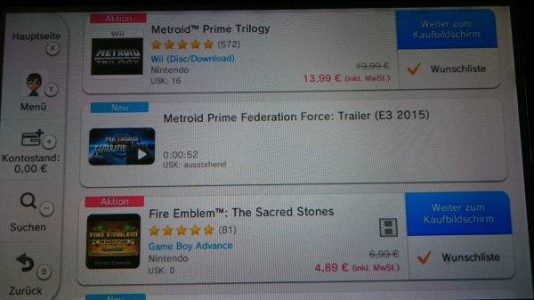 E3 Sale im 3DS und Wii U eShop - z.B. Metroid Trilogy 13,99€