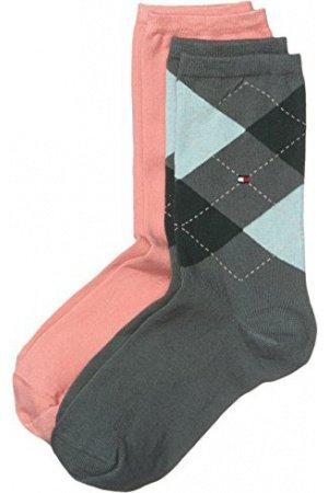 51% sparen: Tommy Hilfiger Damen Strick Socken TH CHECK, 2er Pack, 100 DEN 35/38 für 5,87 € @Amazon