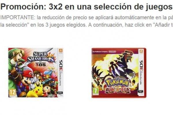 [Amazon.es] 3 Nintendo 3DS Spiele kaufen 2 bezahlen