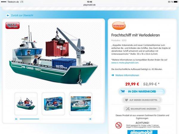 Playmobil Frachtschiff 5253