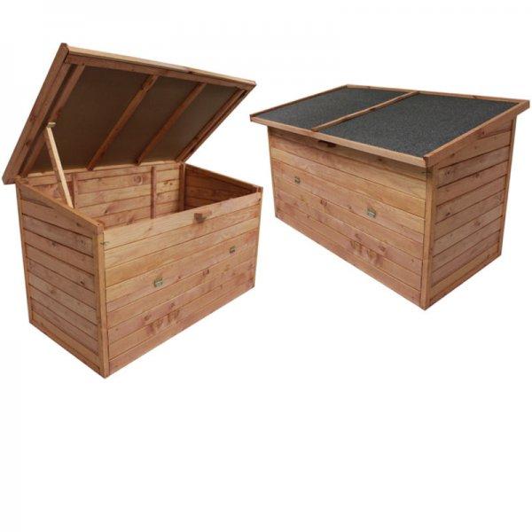 [eBay.de] Auflagenbox aus Holz 128x77x72cm XXL witterungsfest - Moorland ®
