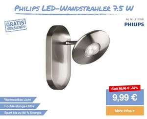 Philips LED-Wandstrahler 7.5 W Warm-Weiß Chrom - SMDV