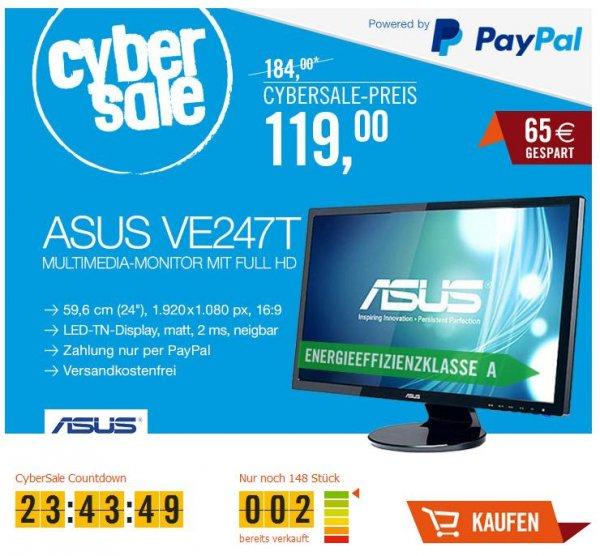 "(CyberSale) ASUS VE247T 59,9 cm (24"") 16:9 Full-HD TFT Monitor mit Lautsprechern"