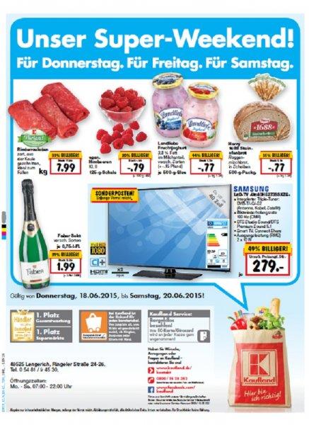 Samsung UE40H5273SSXZG Smart TV bei Kaufland für 279,00 Euro