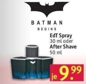 [Rossmann] Batman Begins EdT 30ml od. AS 50ml 9,99€ bzw. 8,99€ mit 10% Coupon