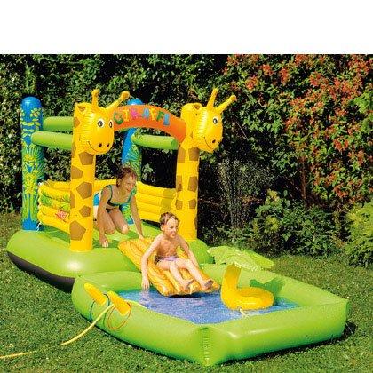 "Kinder-Hüpfburg & Spielpool ""Giraffe"" für 59,94 €, @rossmann.de"