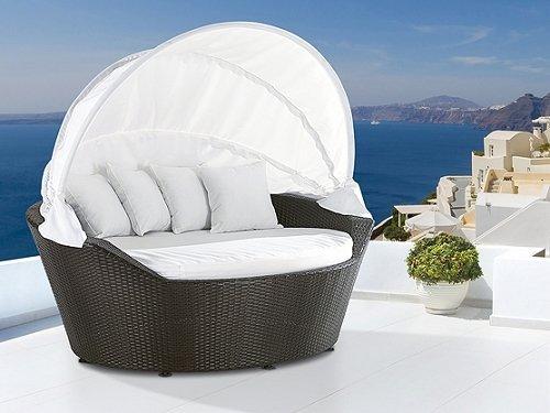 Beliani Sylt Lounge Sonneninsel mit Dach (Polyrattan) Für 399€