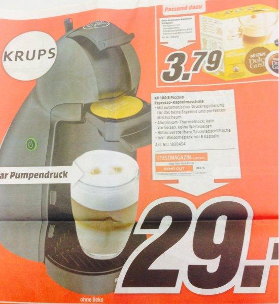 [Lokal Weiterstadt: Media-Markt] Krups Dolce-Gusto Piccolo KP100B für 29,- EUR (Idealo: 42,85 EUR)