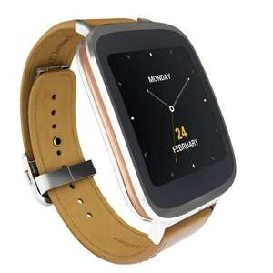 """[Amazon.fr] Asus ZenWatch (1,63"""" AMOLED Touch, Snapdragon 400 Quadcore, 512 MB RAM, 4 GB ROM, Lederarmband, Android Wear) für 194€"""