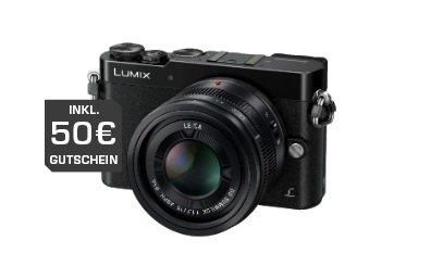 Panasonic Lumix DMC-GM5 + LEICA DG SUMMILUX 1,7 / 15 mm ASPH Objektiv (16,8MP, FourThirds Live MOS Sensor, FULLHD, Wifi) für 896,99€ ( 50€ Geschenkkarte effektiv 846,99€) inkl. Versand @ Saturn.de