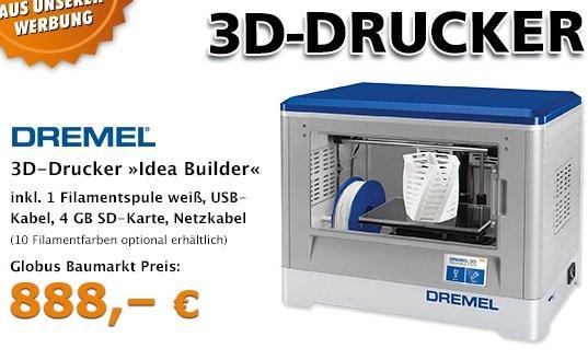 "[Globus-Baumarkt] Dremel 3D-Drucker ""Idea-Builder"""