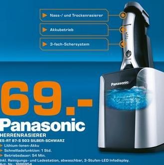 [Lokal OL] Panasonic RT87 Nass/Trocken-Rasierer bei Saturn