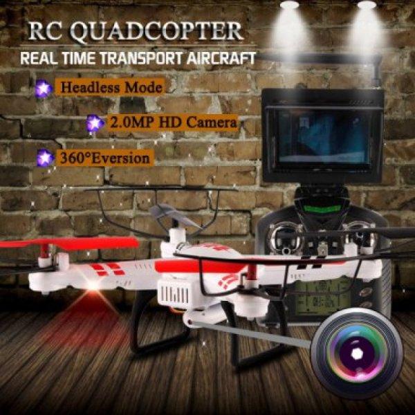 WLtoys V686G 4CH 5.8G FPV Echtzeit Übertragung 2.4G RC Quadcopter mit 2 megapixel Kamera Headless Mode Auto - Rückkehrfunktion--> bei ALLBUY