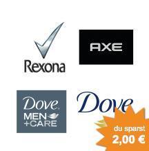(Offline) Dove, Rexona, Axe Coupon 2,00€