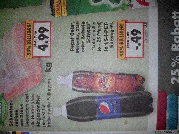 Pepsi 1,5l verschiedene Sorten @Kaufland  für nur 49ct