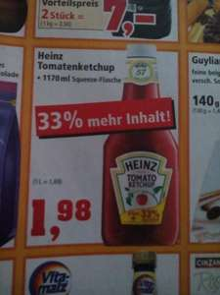 [Thomas Philipps - bundesweit] Heinz Tomatenketchup 1170ml Squeeze Flasche