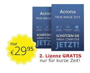 Acronis True Image 2015 (Backup Software) - 2 eigenständige Lizenzen für 29,99 € bei [edv-buchversand.de]