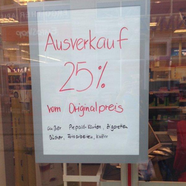 Lokal Dresden Rossmann Alaunstrasse:  25% Abverkauf