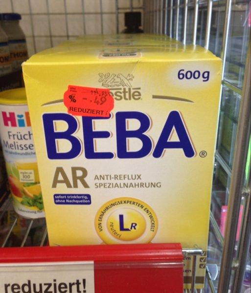 Lokal: Markt Schwaben: BEBA AR Milchpulver bei Kaufland MHD Ende Juni