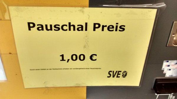[Lokal] Euskirchen Parken für pauschal 1€