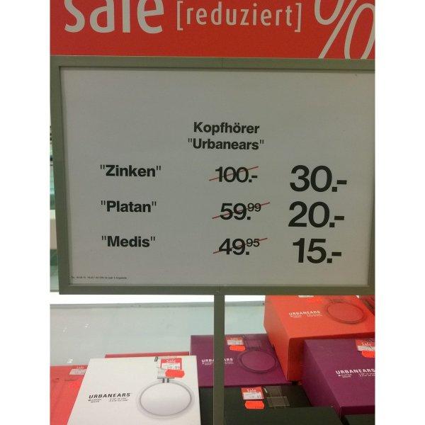 [lokal Ingolstadt Kaufhof] Urbanears Kopfhörer, versch. Modelle und Farben, bsp. Zinken für 30 € (idealo 59 €), Platan 20 €, Medis 15 € zusätzlich Payback 10% möglich