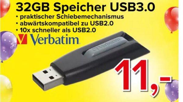 32GB USB- Stick V3 USB DRIVE (Verbatim) Lokal Münster bei Omega Electronic (Salzstraße 35)