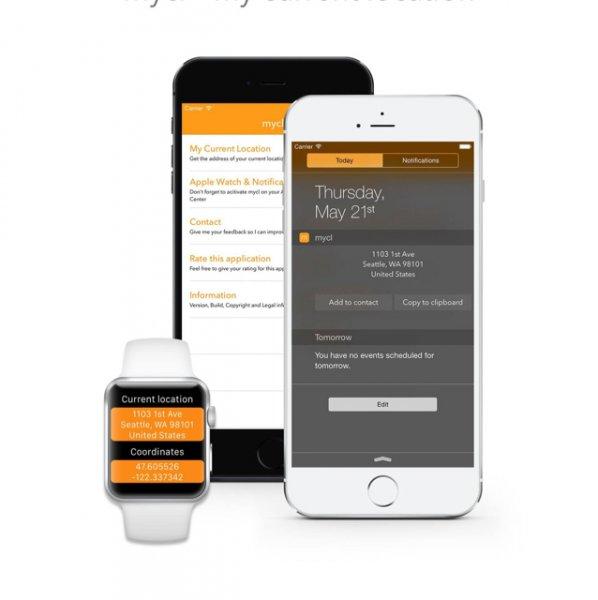 iOS: mycl – my current location KOSTENLOS