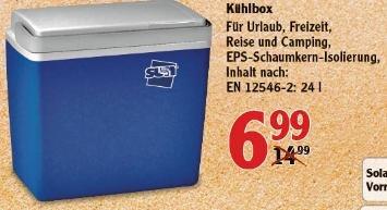 [Globus Köln] 24-Liter Kühlbox für 6,99€