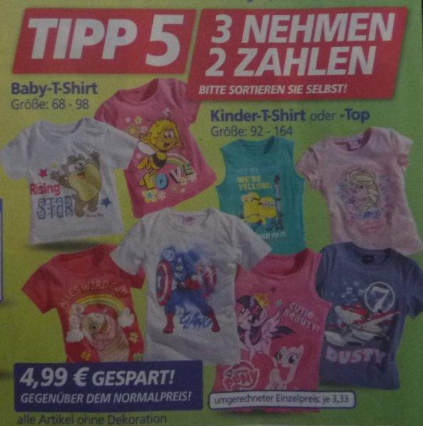 Real Baby T-Shirt 68-98 Kinder T-Shirt 92-164 3 Stück für 9,98 Euro (Minions, Little Pony, Dusty, Eiskönig, Biene Maja uvm)
