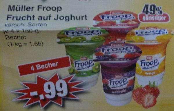 (Lokal) 4 x Müller Froop Joghurt für 0,99 Euro bei Edeka Alzenau / Schöllkrippen / Mömbris