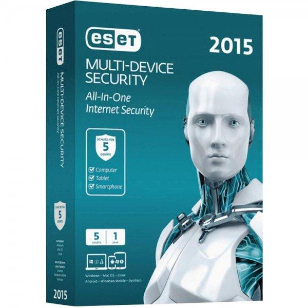 """ESET Sicherheitssoftware """"Multi Device Security 2015"""" für 5 Geräte, @ZackZack"""